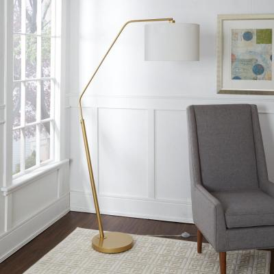 Denton 68.25 in. Gold Floor Lamp with Shade