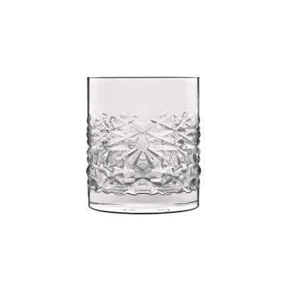 Mixology 12.75 fl. oz. Lead-Free Crystal Glass Textures DOF Drinking Glass (4-Pack)