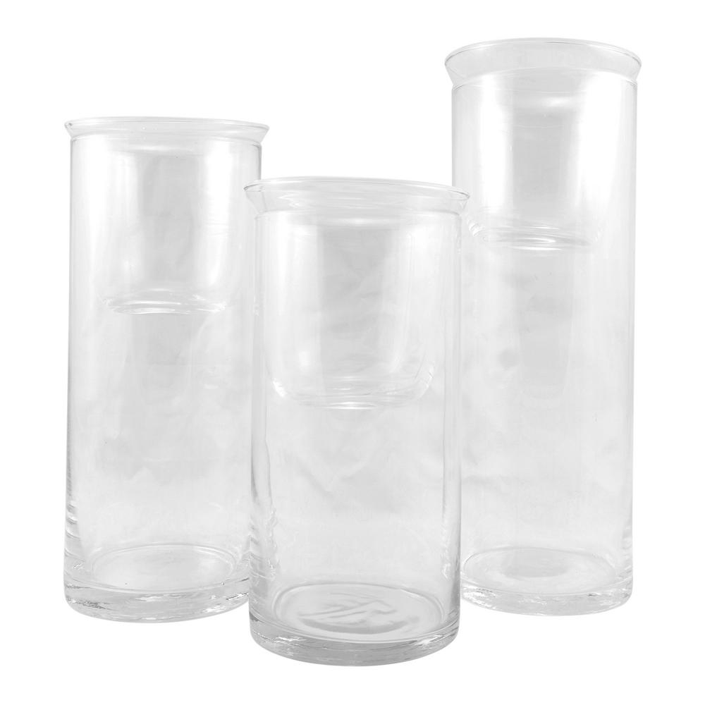 Stonebriar collection clear cylinder glass hurricane candle holder stonebriar collection clear cylinder glass hurricane candle holder set of 3 floridaeventfo Gallery
