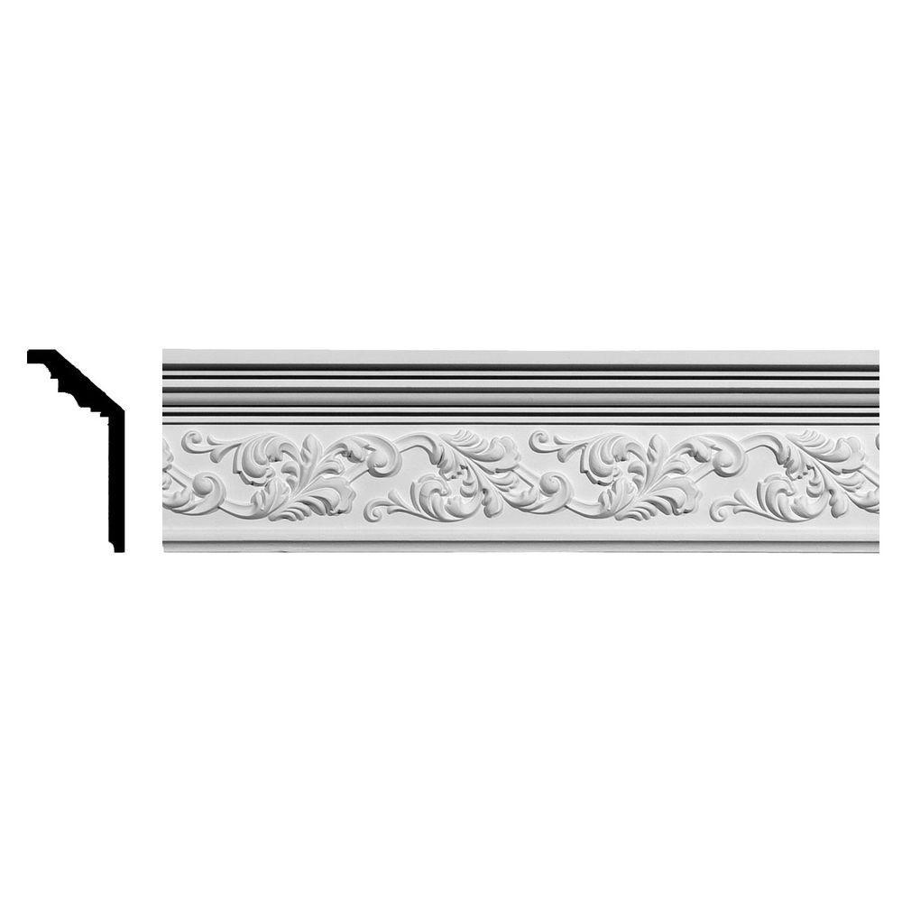 2-1/4 in. x 5-1/2 in. x 94-1/2 in. Polyurethane Richmond Crown