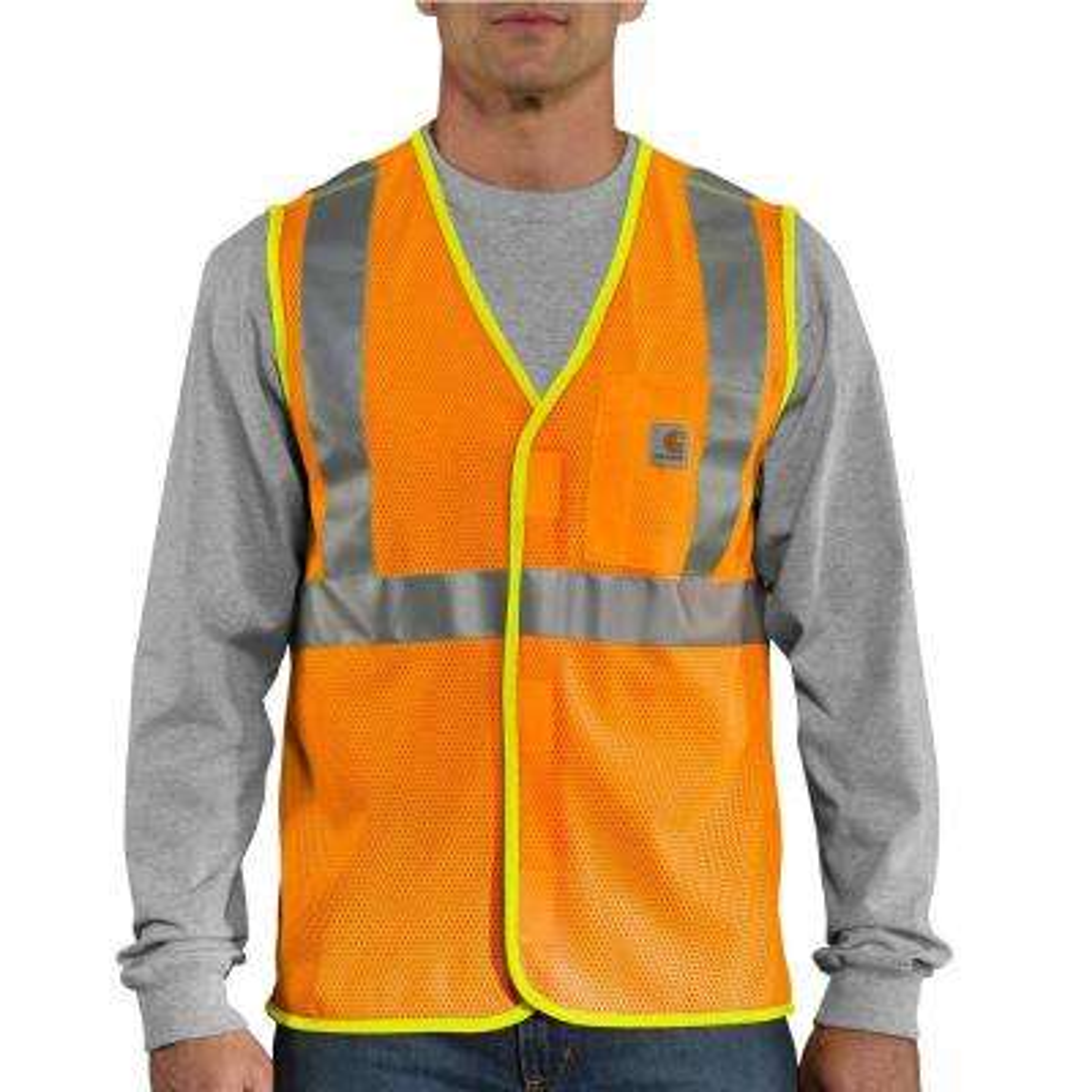 Men's 3X Large Brite Orange Polyester High Visibility Class 2 Vest