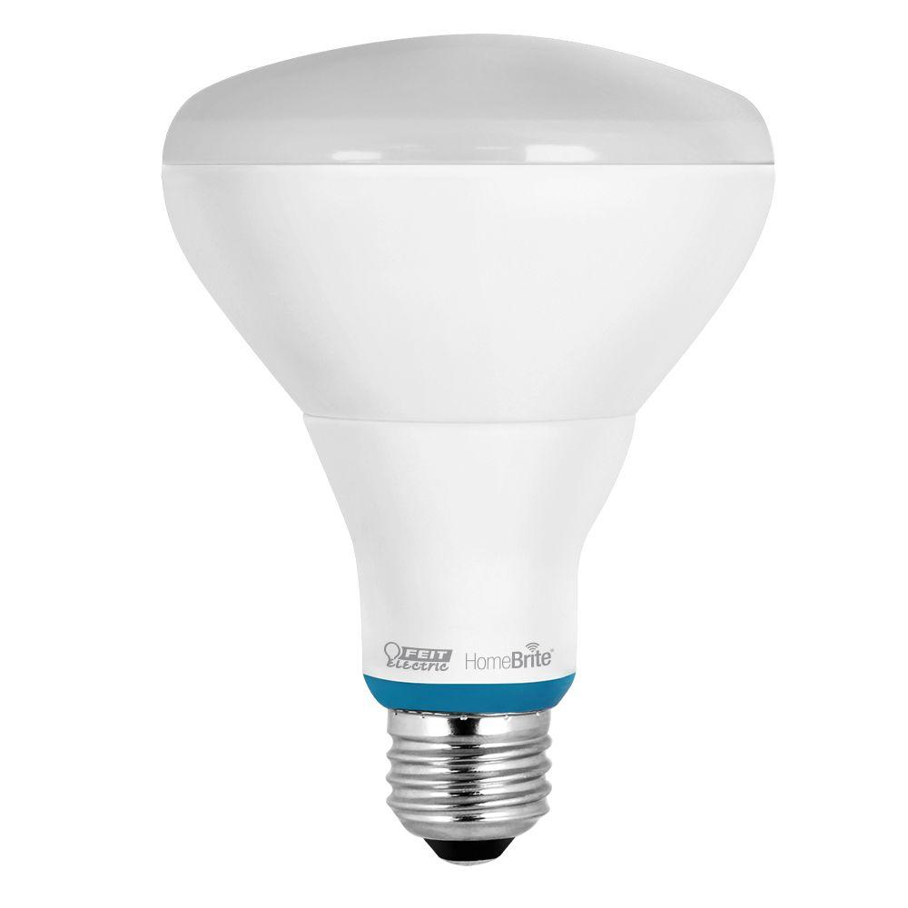 Feit Electric 40w Equivalent Soft White 2700k T10: Feit Electric 65W Equivalent Soft White BR30 Dimmable