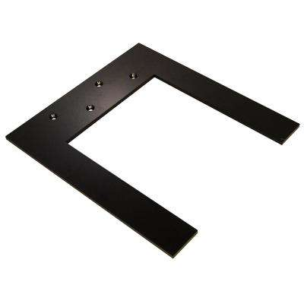 Lincoln Top Plate 10 in. Black Hidden Countertop Brace