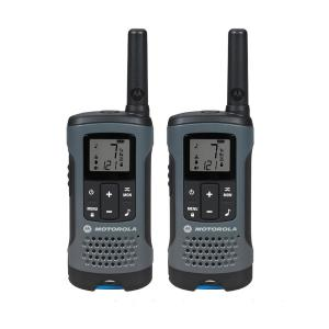 Motorola Talkabout T200 Rechargeable 2-Way Radio, Gray (2-Pack) by Motorola