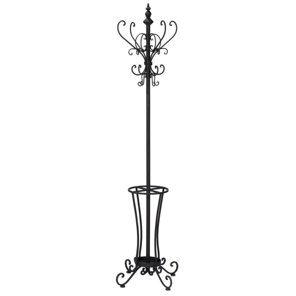 Southern Enterprises Black 16-Hook Coat Rack
