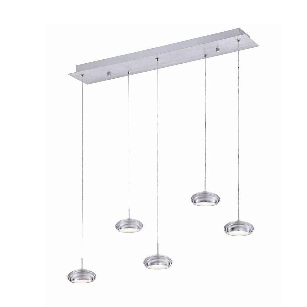 null Venti Collection 5-Light Aluminum Linear Pendant