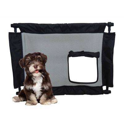 Black Porta-Gate Travel Collapsible and Adjustable Folding Pet Cat Dog Gate