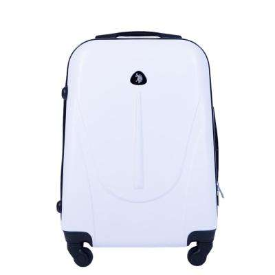 U.S Polo Assn. 21 in. White Carry-On Luggage Spinner
