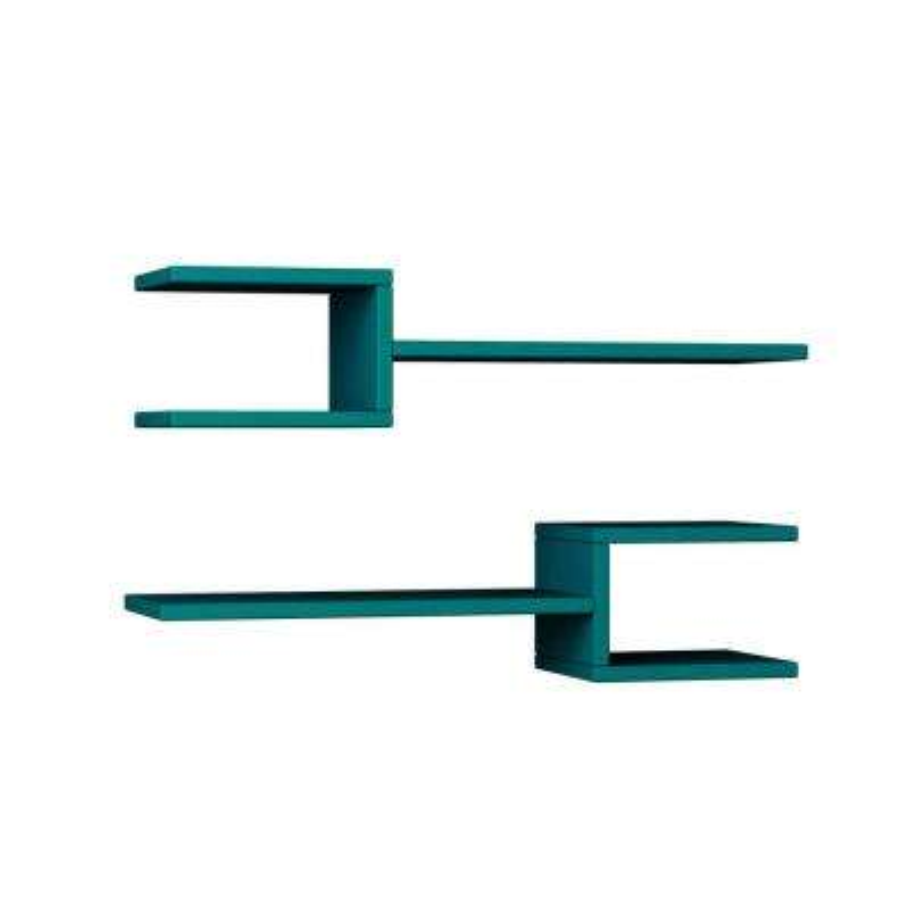 Webbs Turquoise Mid-Century Modern Wall Shelf