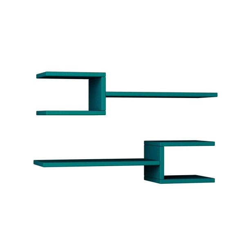 Ada Home Decor Webbs Turquoise Mid-Century Modern Wall Shelf DCRW2078