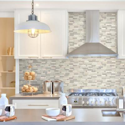Crescendo Ciotta 9.73 in. W x 9.36 in. H Taupe Peel and Stick Decorative Mosaic Wall Tile Backsplash (4-Pack)