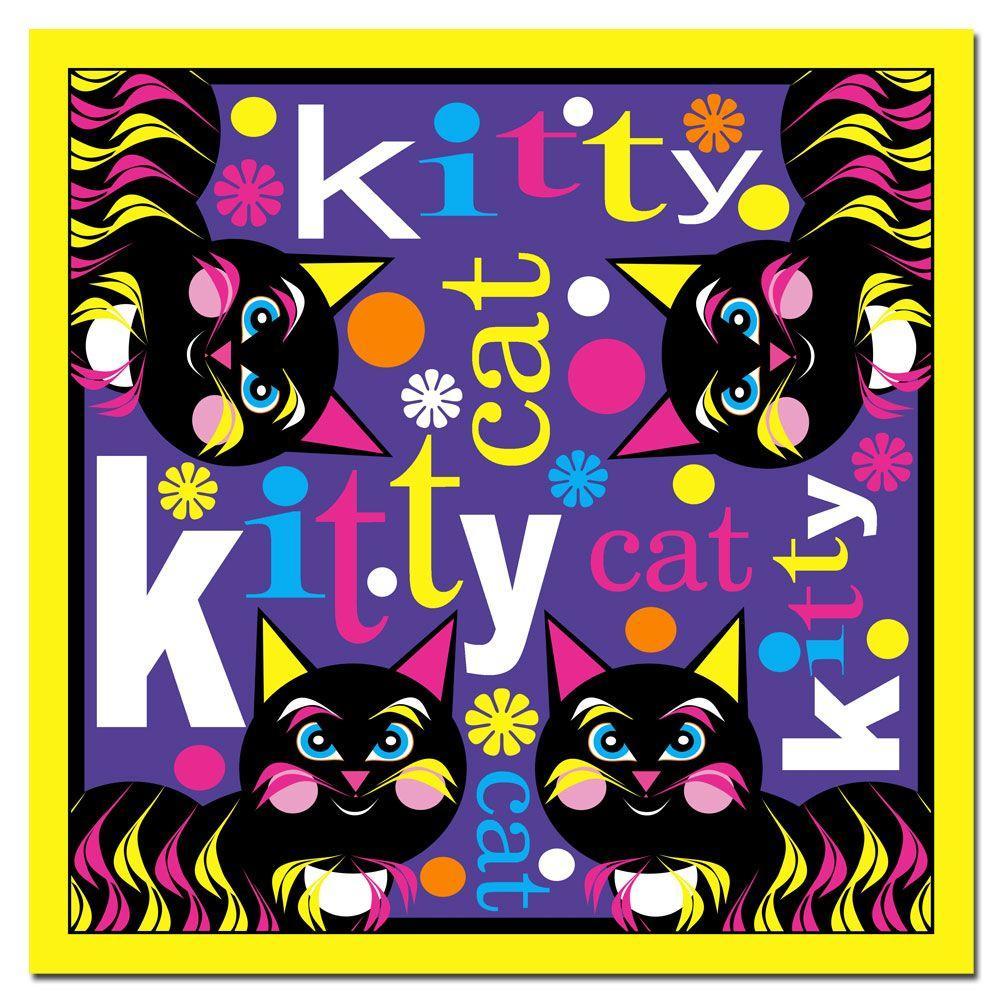 24 in. x 24 in. Kitty Cat II Canvas Art