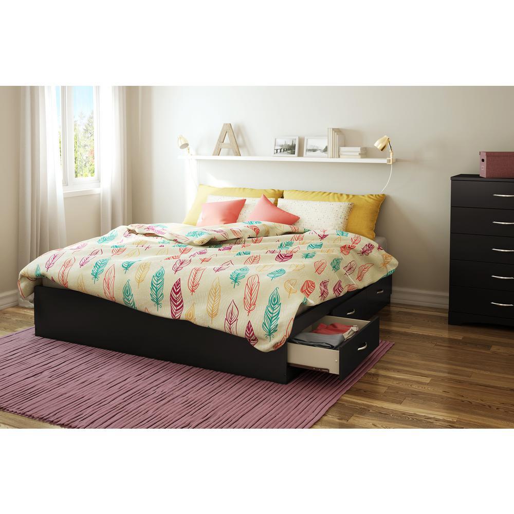 Majestic King Platform Bed Frame in Pure Black