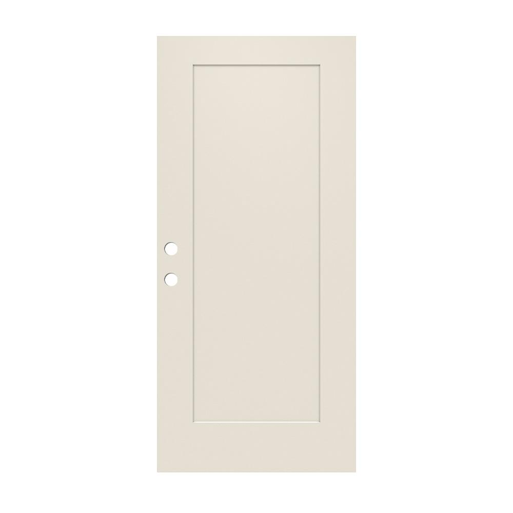 32 in. x 79 in. 1-Panel Craftsman Primed Steel Front Door