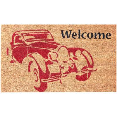 Beige 18 in  x 30 in  Coir and Vinyl Door Mat-20815-1 - The Home Depot