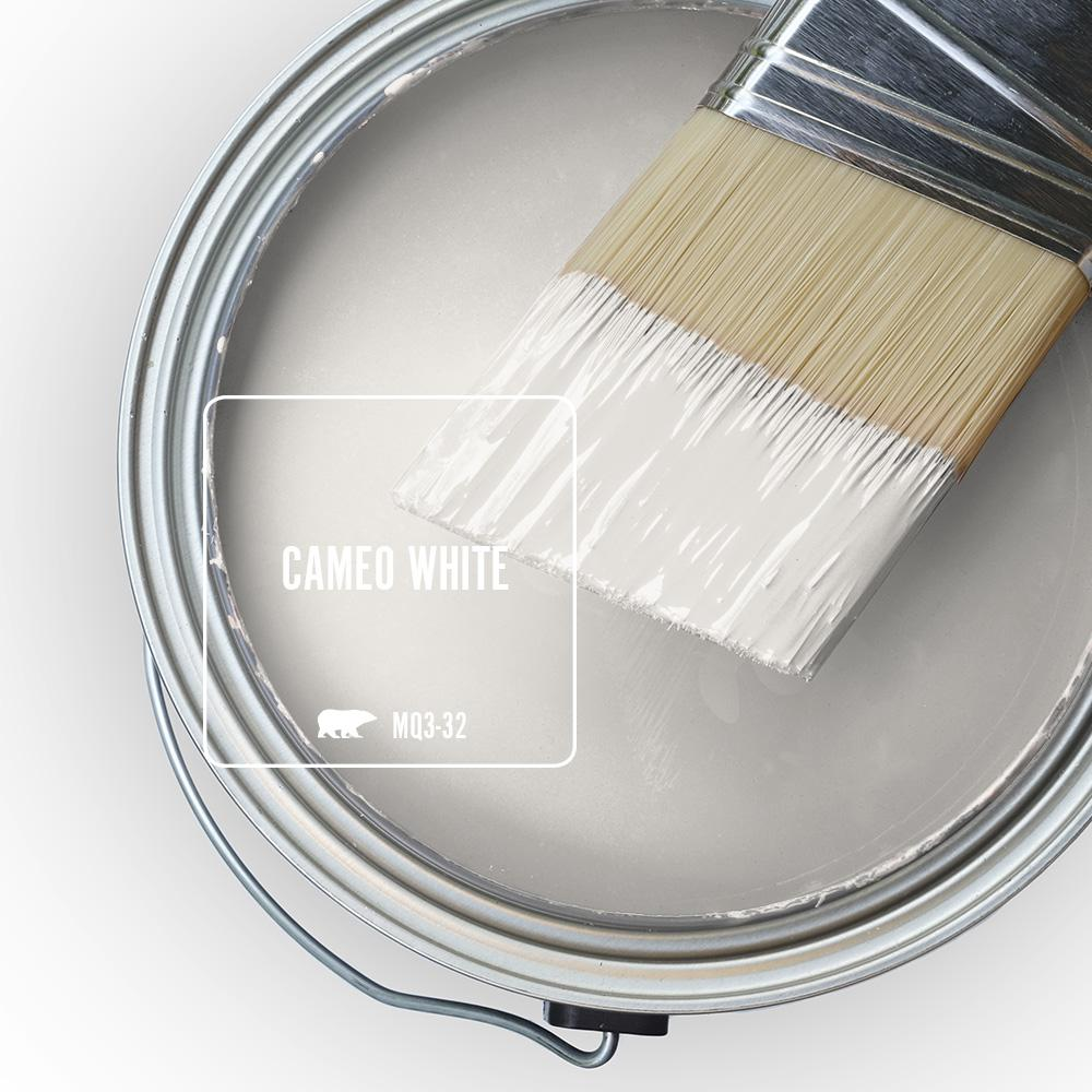 BEHR MARQUEE 8 oz. #MQ3-32 Cameo White One-Coat Hide Matte Interior/Exterior Paint & Primer Sample