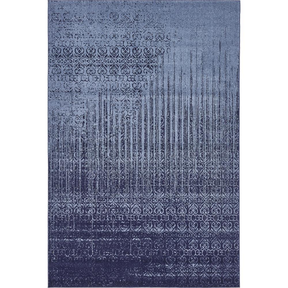 Vintage  Del Mar Rain Blue 6 ft. x 9 ft.  Rug