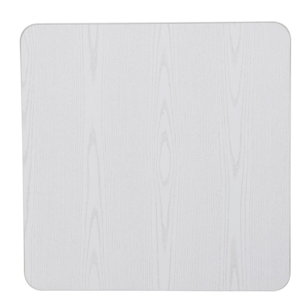 Cosco White Wood Grain Resin 34 In. Square Folding Table