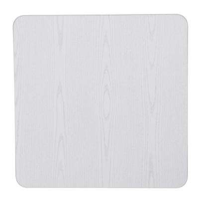White Wood Grain Resin 34 in. Square Folding Table