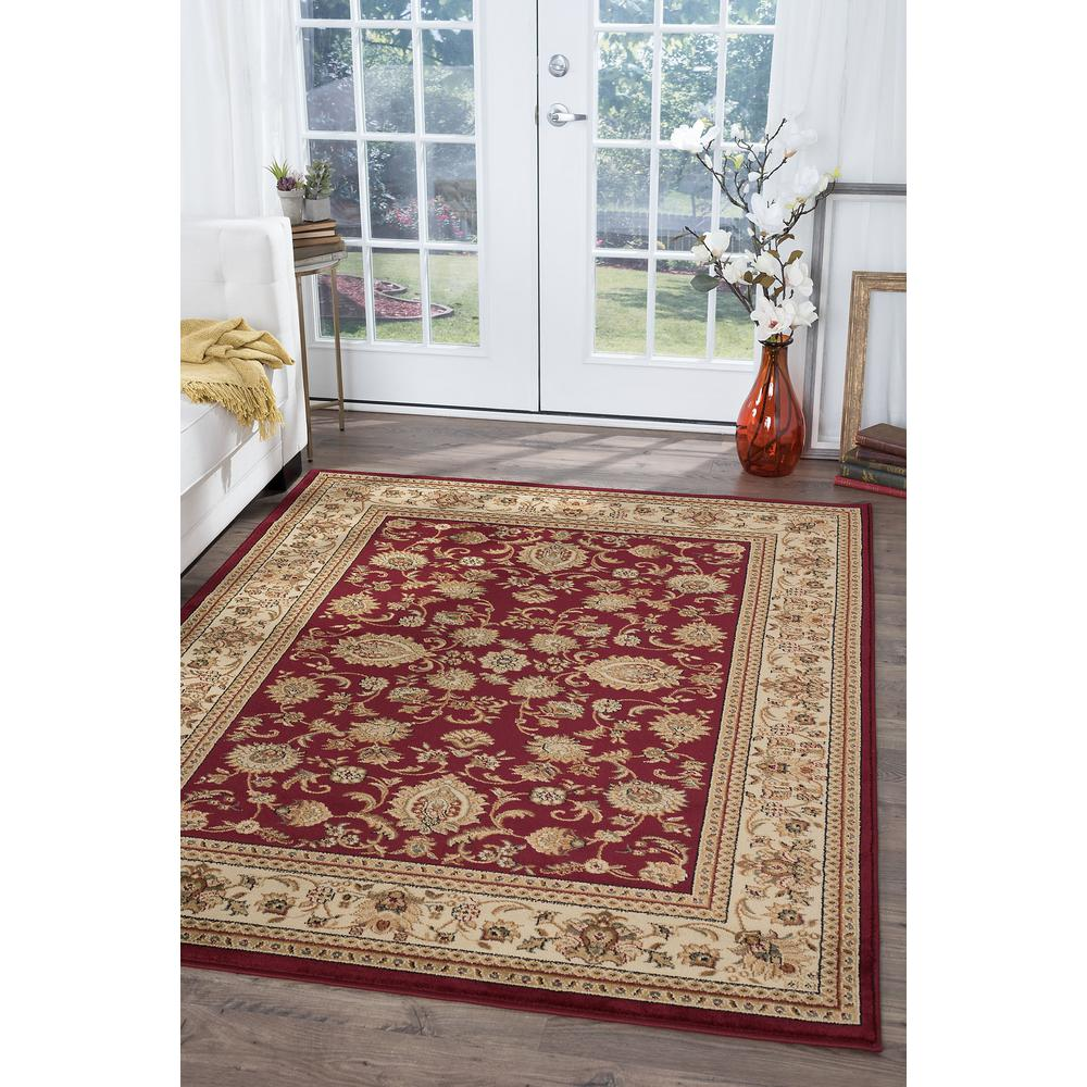 Tayse Rugs Sensation Red 5 ft. x 7 ft