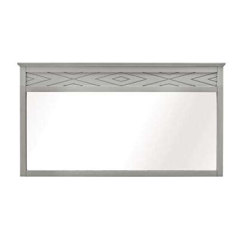 Clemente 33 in. H x 25 in. W Framed Wall Mirror in Dove Grey