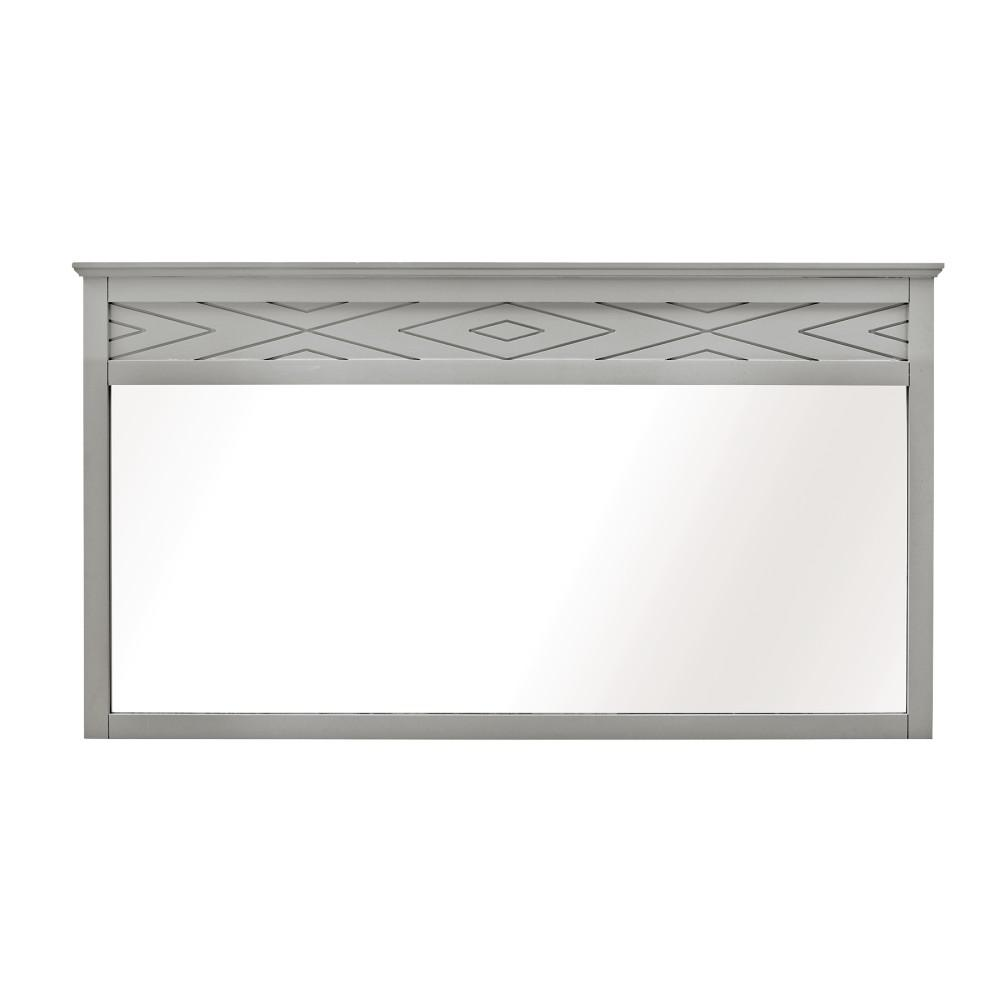 Home Decorators Collection Clemente 33 in. H x 60 in. W Framed Wall Mirror in Dove Grey