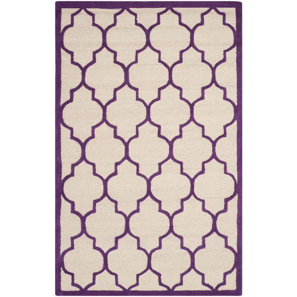 Safavieh Cambridge Ivory/Purple 4 ft. x 6 ft. Area Rug