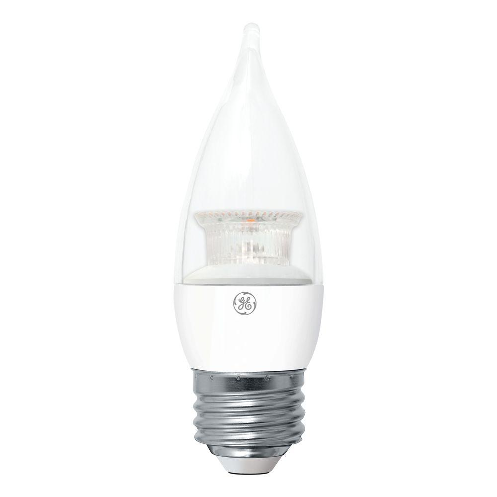 Ge 40w Equivalent Soft White Ca11 Bent Tip Medium Base Dimmable Led Light Bulb 2 Pack Led4dcam