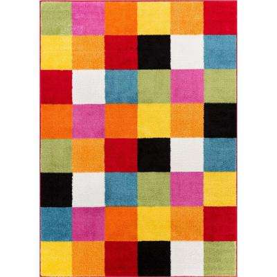 StarBright Bright Square Multi 8 ft. x 11 ft. Kids Area Rug