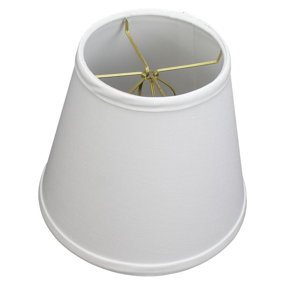 Fenchel Shades 5 in. Top Diameter x 8 in. Bottom Diameter x 7 in. Slant Empire Lamp Shade - Linen White