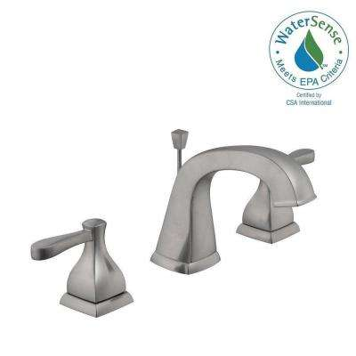 Milner 8 in. Widespread 2-Handle Bathroom Faucet in Brushed Nickel
