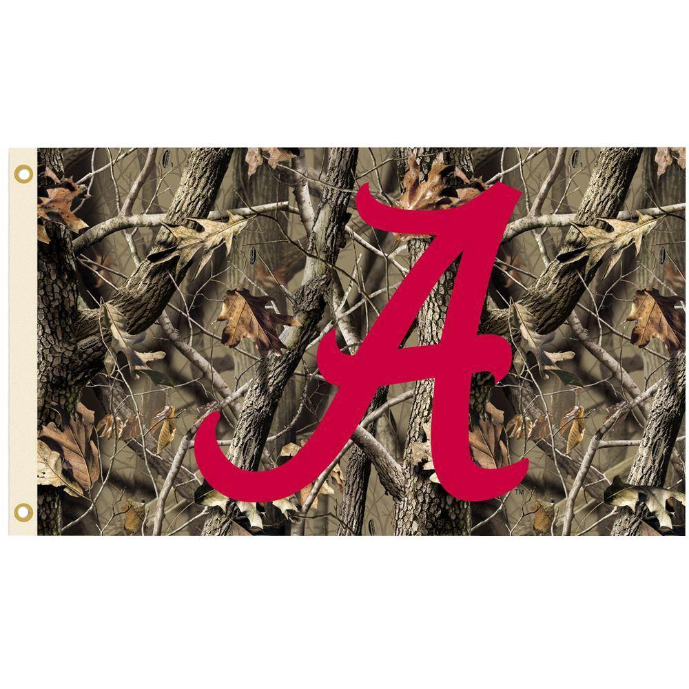 BSI Products NCAA 3 ft. x 5 ft. Realtree Camo Background Alabama Flag