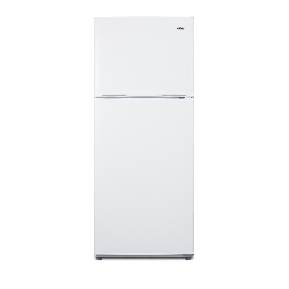 Summit Appliance 11.5 cu. ft. Frost Free Upright Top Freezer Refrigerator  in White, ENERGY STAR