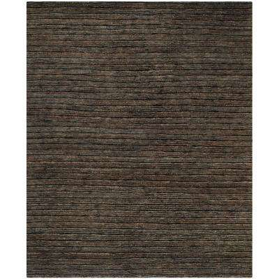 Rectangle Jute Black Area Rugs The Home Depot