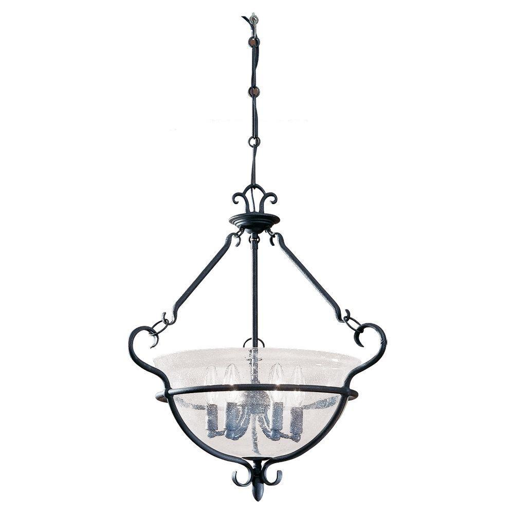 Sea Gull Lighting Manor House 6-Light Weathered Iron Pendant