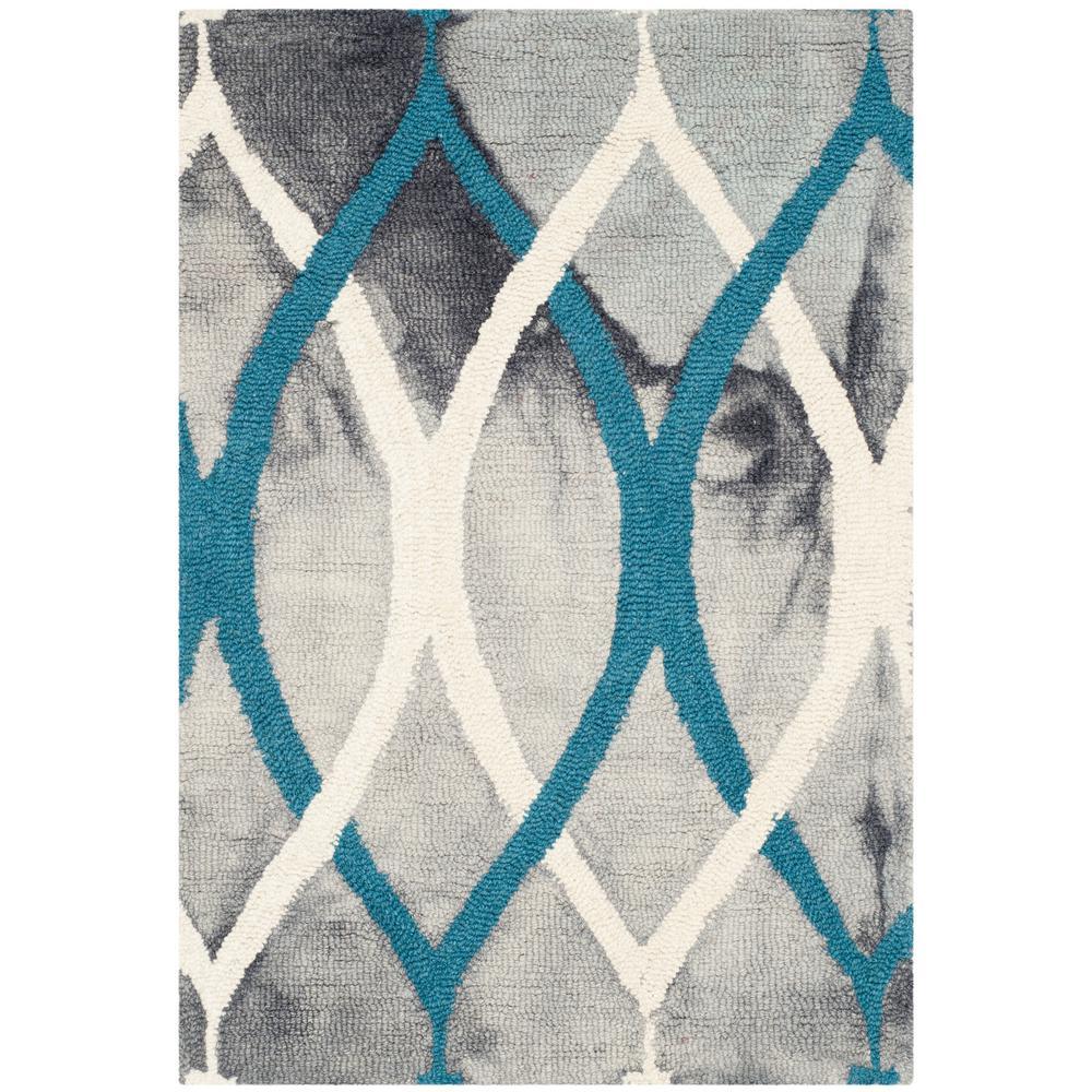 Safavieh Dip Dye Gray Ivory Blue 3 Ft X 5 Ft Area Rug