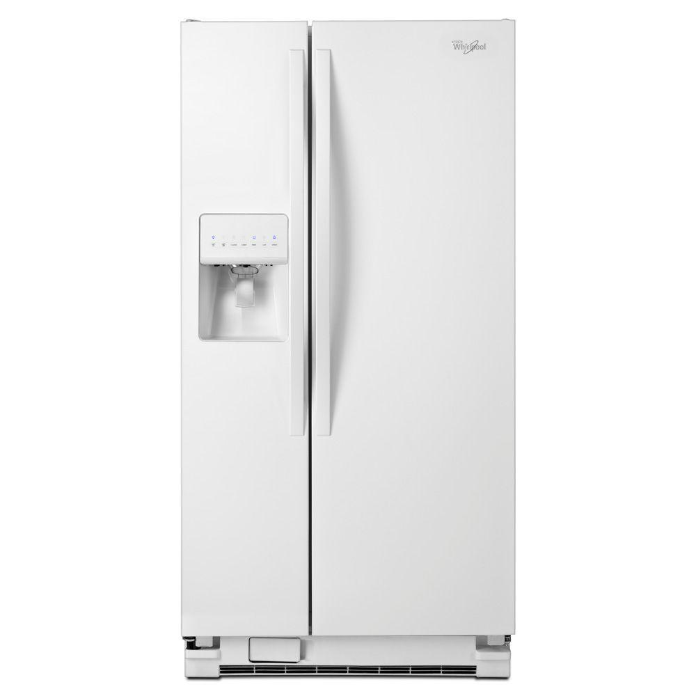 Whirlpool 33 In W 21 2 Cu Ft Side By Side Refrigerator