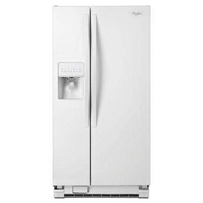 33 in. W 21.2 cu. ft. Side by Side Refrigerator in White