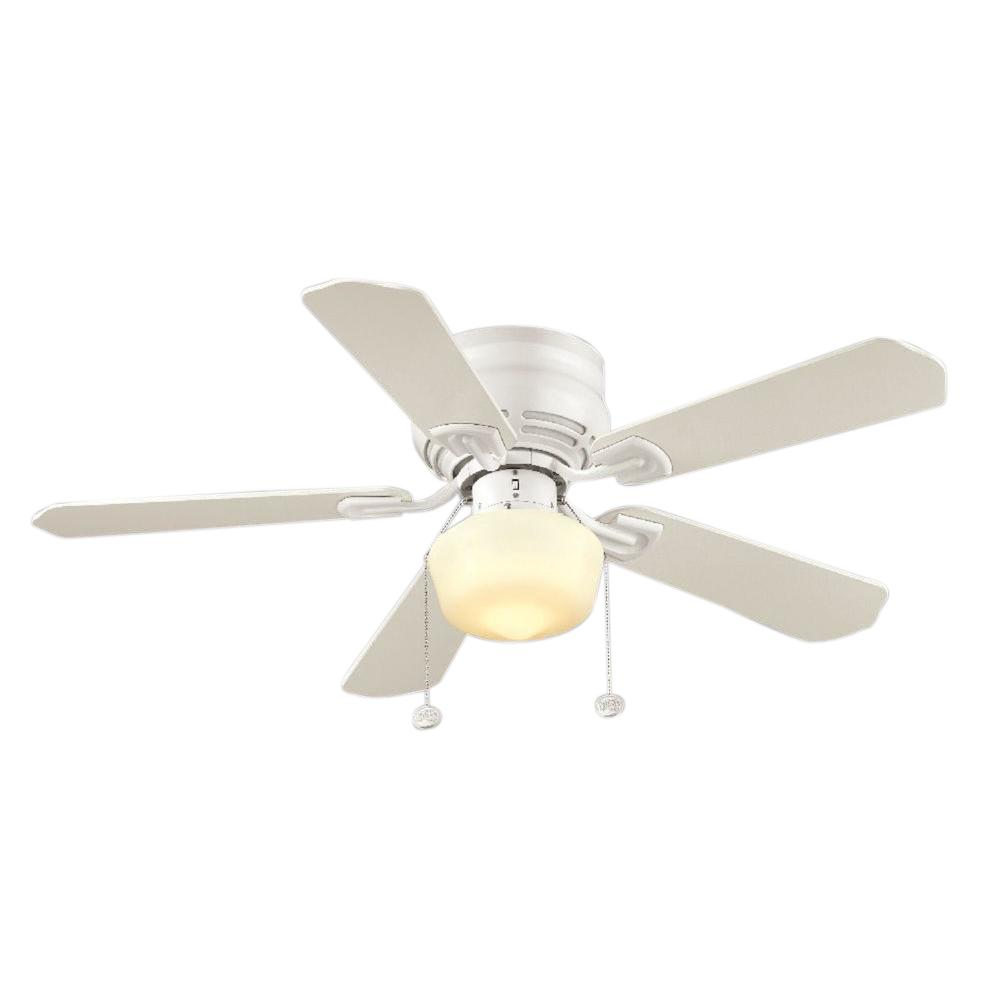 Middleton 42 in. Indoor White Ceiling Fan with Light Kit ...
