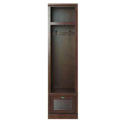 Shutter 74 in. H x 19.25 in. W x 18 in. D Modular Open Small Center Open Locker in Smoky Brown