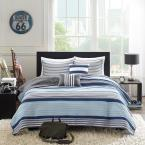 Intelligent Design Matteo 4-Piece Blue Twin/Twin XL Coverlet Set
