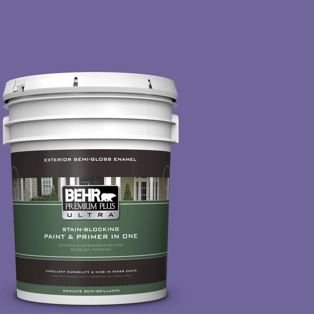 BEHR Premium Plus Ultra 5-gal. #630B-7 Pandora Semi-Gloss Enamel Exterior Paint