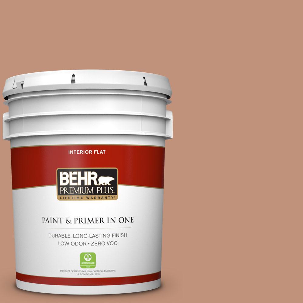 BEHR Premium Plus 5-gal. #ICC-101 Florentine Clay Zero VOC Flat Interior Paint
