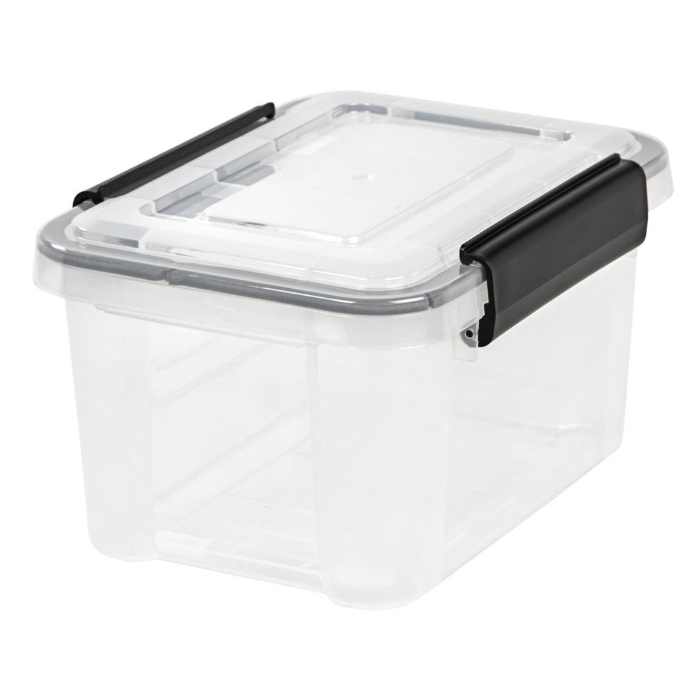 6.5-Qt. Weathertight Storage Box in Clear