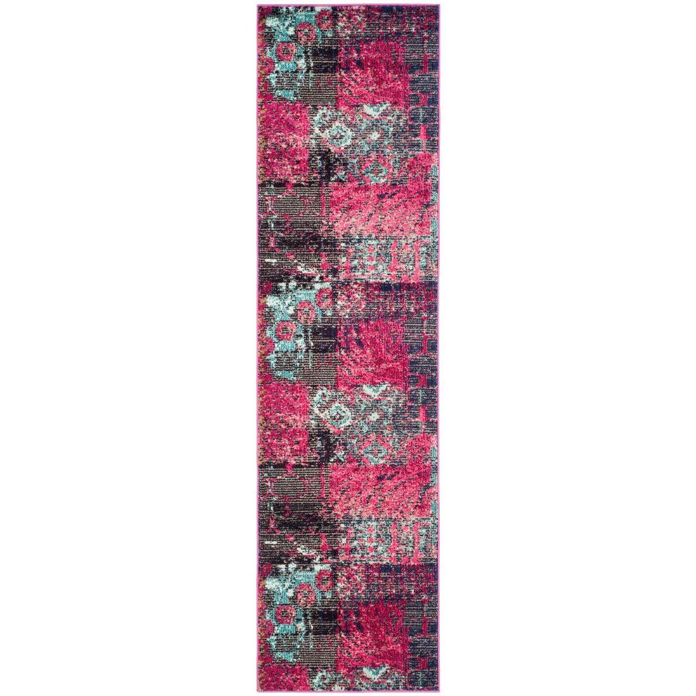 Safavieh Monaco Pink/Multi 2 ft. 2 in. x 8 ft. Runner