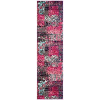 Monaco Pink/Multi 2 ft. x 8 ft. Runner Rug
