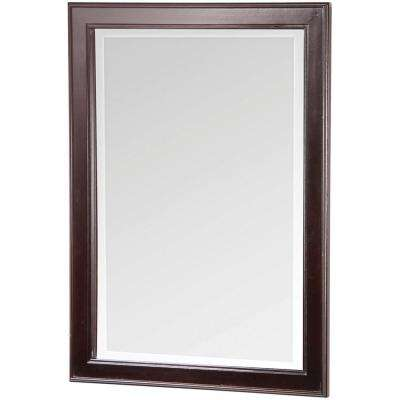 Gazette 24 in. x 32 in. Wall Mirror in Espresso