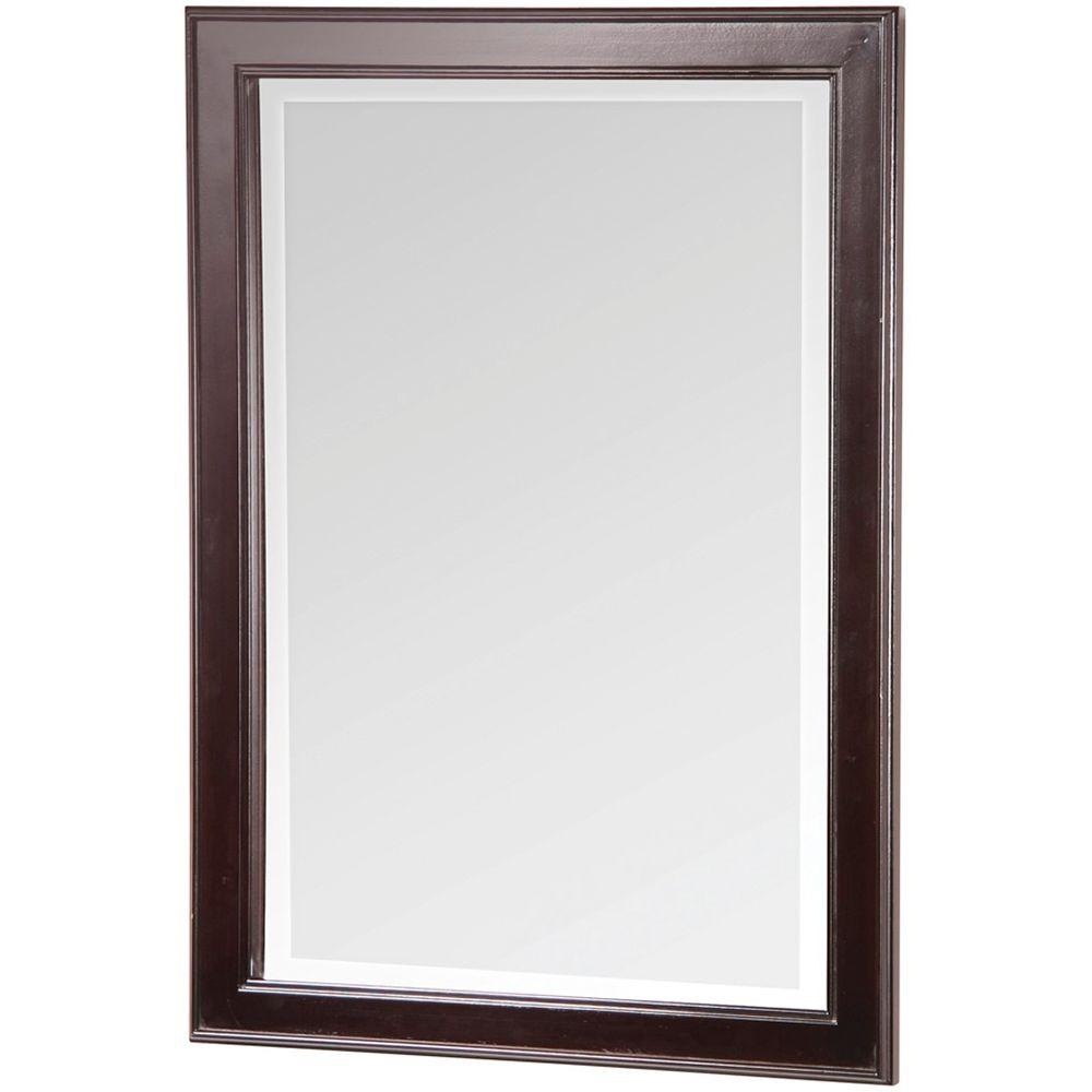Home Decorators Collection Gazette 24 In X 32 In Wall Mirror In Espresso Gaem2432 The Home Depot