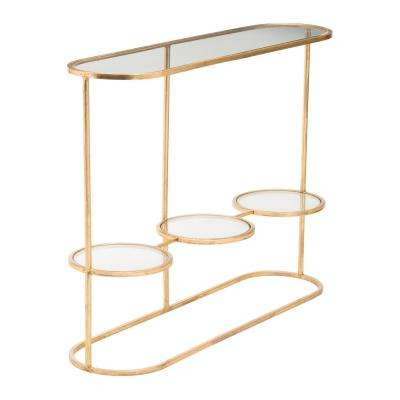 Aron Gold Console Table Gold