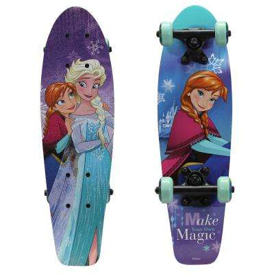 Frozen Make Magic Kids 21 in. Complete Skateboard